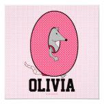 "Pink Monogram ""O"" Kid's Birthday Party Invitation"