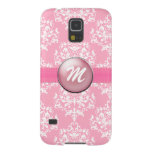 Pink Monogram Samsung S5 Phone Case Galaxy S5 Cover