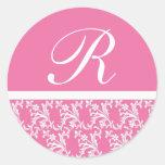 Pink Monogram Sticker