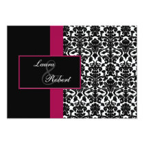 pink monogram wedding Thank You Card