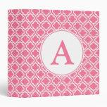 Pink Monogrammed Binder