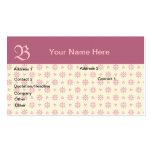Pink Monogrammed Eyelet Business Card