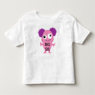 Pink Monster Big Sister Toddler T-shirt