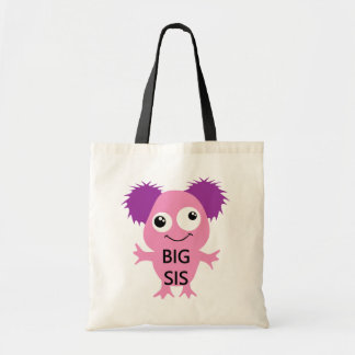 Pink Monster Big Sister Tote Bag