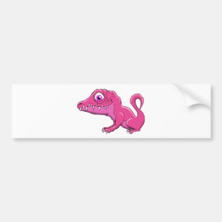 Pink Monster Bumper Sticker