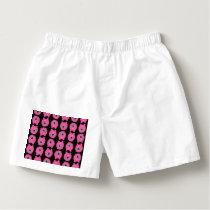 Pink monster cartoon pattern boxers