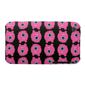 Pink monster cartoon pattern iPhone 3 cover