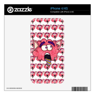 Pink monster decals for the iPhone 4S