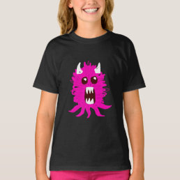 Pink Monster Girl's T-Shirt