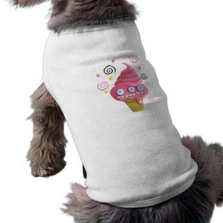 Pink Monster Ice Cream Cone Pet Shirt