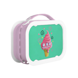 Pink Monster Ice Cream Cone Lunchboxes