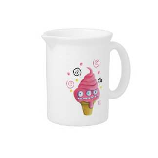 Pink Monster Ice Cream Cone Drink Pitcher