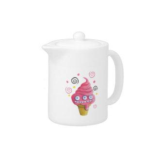 Pink Monster Ice Cream Cone