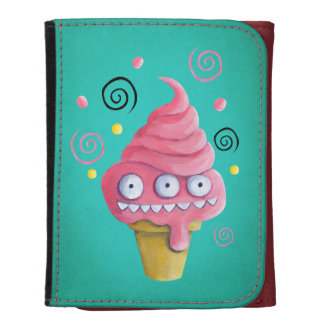 Pink Monster Ice Cream Cone Wallet