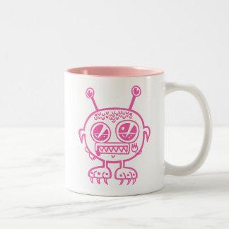 Pink Monster Two-Tone Coffee Mug