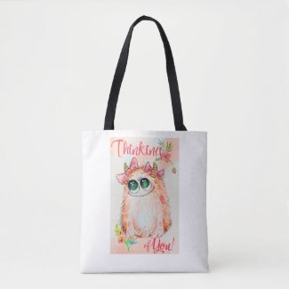 Pink monsters Love message Woman's bag