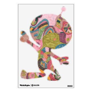 """Pink Mood"" Abstract Art Sm Alien Wall Decal"