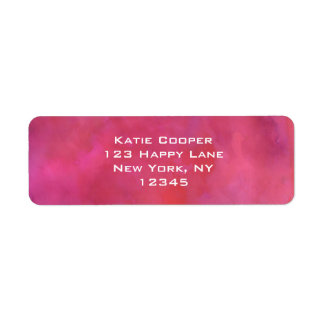 Pink Moody Watercolor Texture Return Address Label