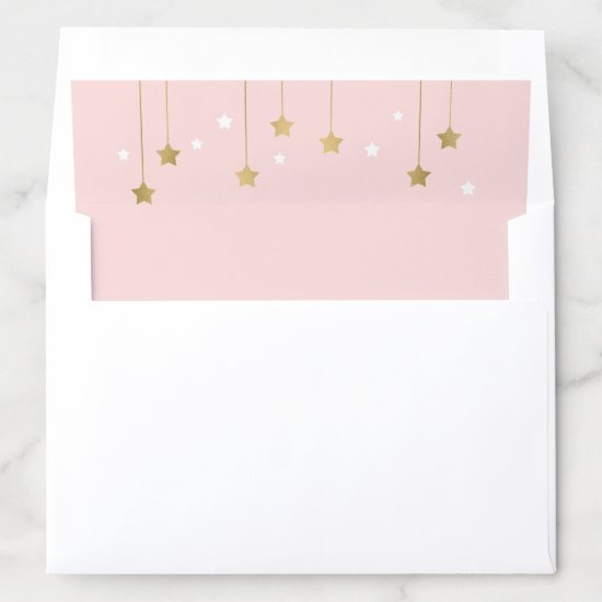 Pink Moon and Stars Envelop Liner