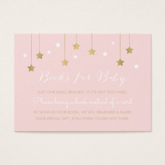 Pink moon and stars, invitation insert