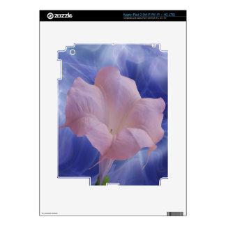 Pink Moon Flower iPad 3 Decals