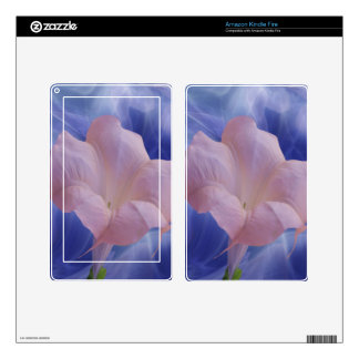 Pink Moon Flower Kindle Fire Decal