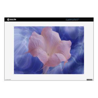"Pink Moon Flower Skin For 15"" Laptop"