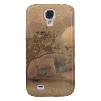 Pink Moon Landscape Galaxy S4 Cover