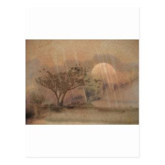 Pink Moon Landscape Postcard