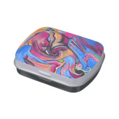 Pink Moon Lovelies pillbox or candy tin at Zazzle