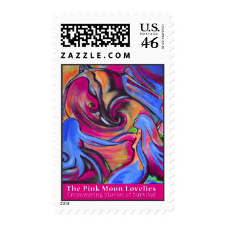 Pink Moon Lovelies stamp
