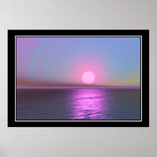 Pink Moon Print Print