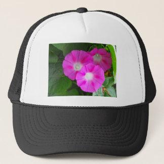 Pink Morning Glories Trio Trucker Hat