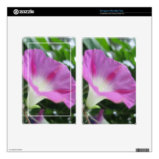 Pink Morning Glory Flower Skins For Kindle Fire
