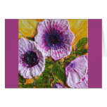 Pink Morning Glory Good Luck Card