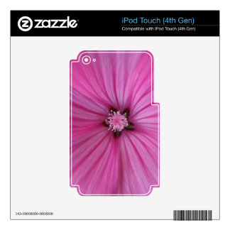 Pink Morning Glory ~ Macro Photography Skin For iPod Touch 4G
