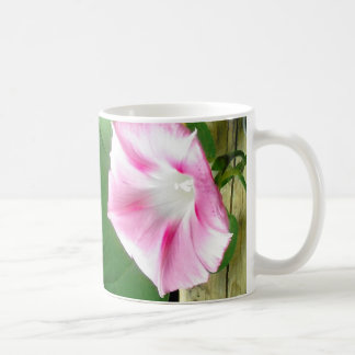 Pink morning glory mug