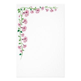 Pink Morning Glory Stationery