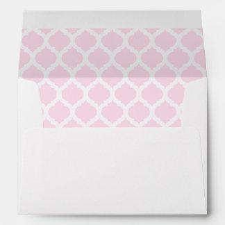 Pink Moroccan Pattern A7 Envelopes