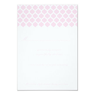 Pink Moroccan Pattern Wedding Party RSVP Cards