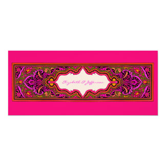 Pink Moroccan Wedding Invitation