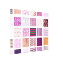 Pink Mosaic pattern Canvas Print