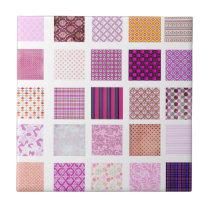 Pink Mosaic pattern Ceramic Tile