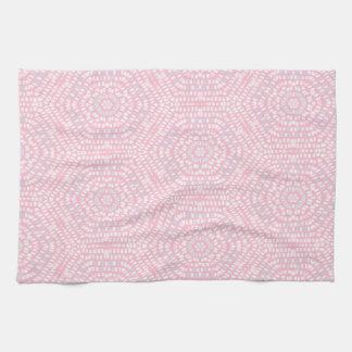 Pink Mosaic Pattern Hand Towel