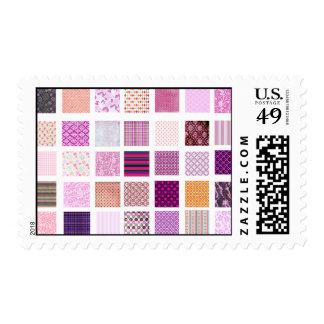 Pink Mosaic pattern Postage Stamp