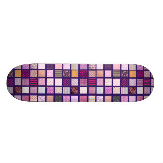 Pink Mosaic pattern Skateboard Deck