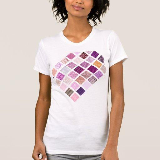 Pink Mosaic pattern T Shirt