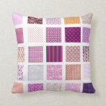 Pink Mosaic pattern Throw Pillow