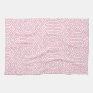 Pink Mosaic Pattern Towels