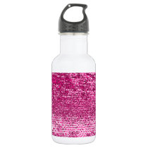 Pink mosaic pattern water bottle